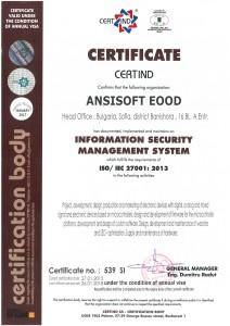 Ansisoft ISO 27001 en